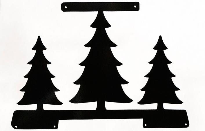 Picnic Table Bracket Animal Figurine - Pine Trees