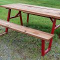 Picnic Table Brackets - Red