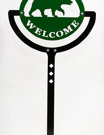 Sign Bracket Ground Post
