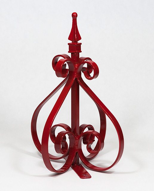 Swing Away Mailbox Post Decorative Scrollwork Red