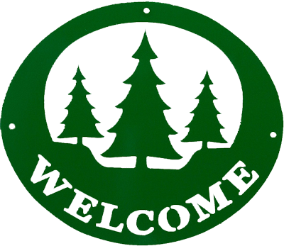 Welcome Sign - Green