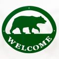 Welcome Signs Bear - Green