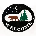 Welcome Signs Bear Tree -Tri color