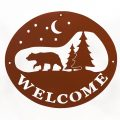 Welcome Signs Bear Tree - Brown