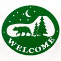 Welcome Signs Bear Tree - Green