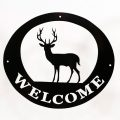 Welcome Signs - Deer Black