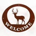 Welcome Signs - Deer Brown
