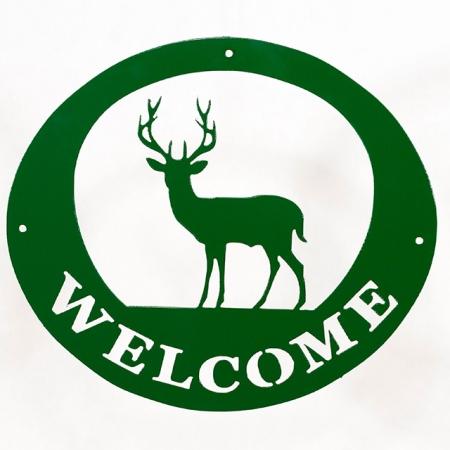 Welcome Signs - Deer Green
