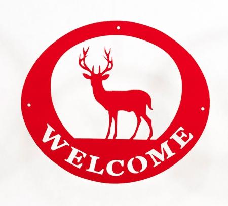Welcome Signs - Deer Red