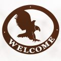 Welcome Signs Eagle - Brown