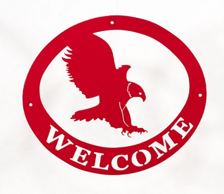 Welcome Signs Eagle - Red
