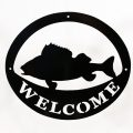 Welcome Signs Fish - Black