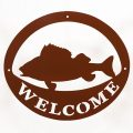 Welcome Signs Fish - Brown