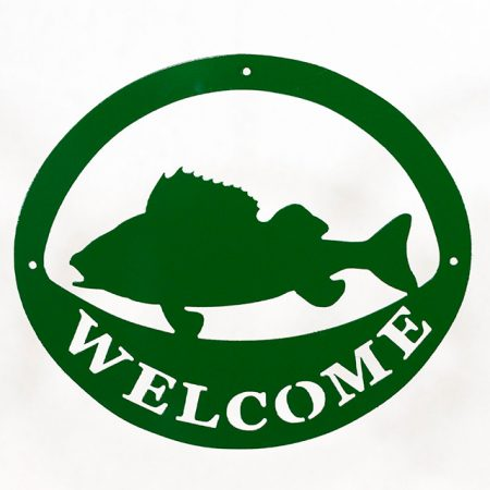 Welcome Signs Fish - Green