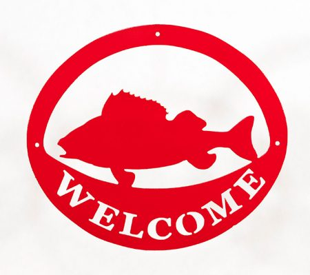Welcome Signs Fish - Red