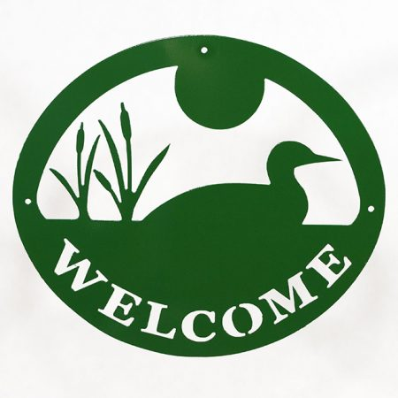 Welcome Signs Loon - Green