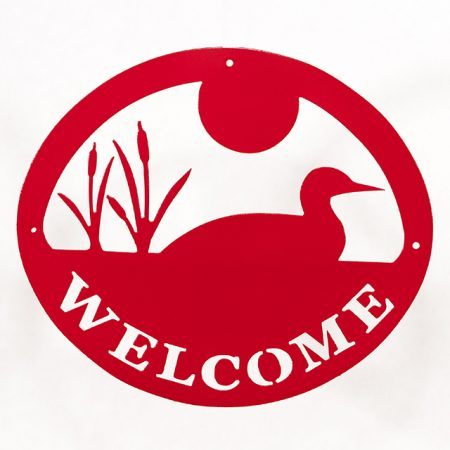 Welcome Signs Loon - Red
