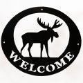 Welcome Signs Moose - Black