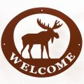 Welcome Signs Moose - Brown