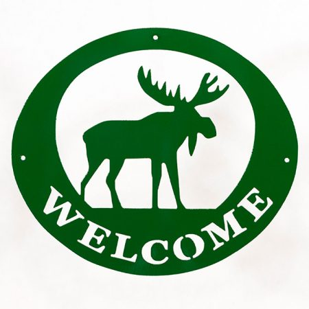 Welcome Signs Moose - Green