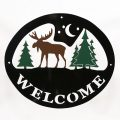 Welcome Signs Moose Tree - Tri color