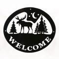 Welcome Signs Moose Tree - Black