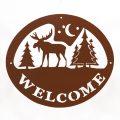 Welcome Signs Moose Tree - Brown