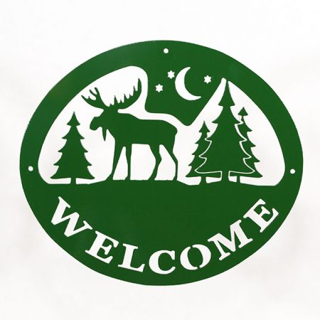 Welcome Signs Moose Tree - Green
