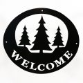 Welcome Signs Pine Tree - Black
