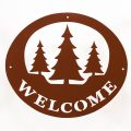 Welcome Signs Pine Tree - Brown