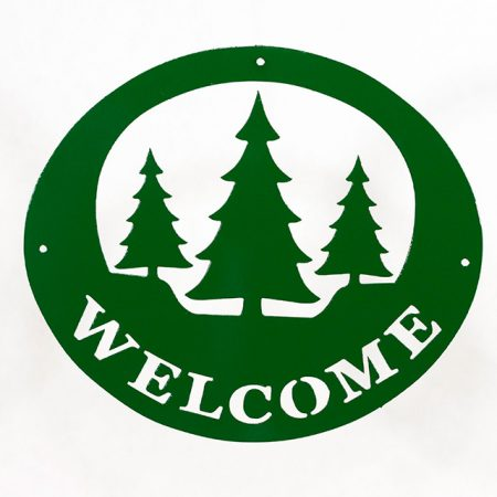 Welcome Signs Pine Tree - Green