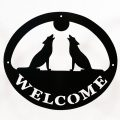 Welcome Signs Wolf - Black