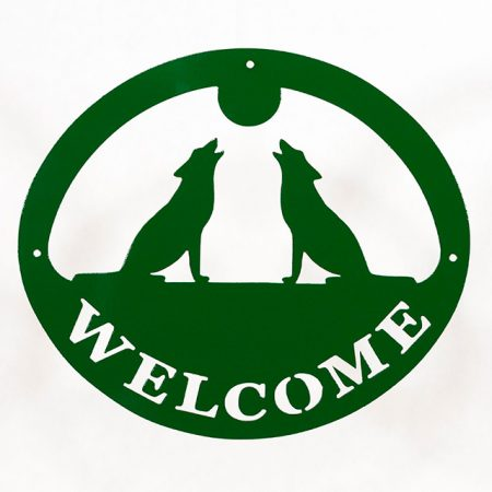 Welcome Signs Wolf - Green