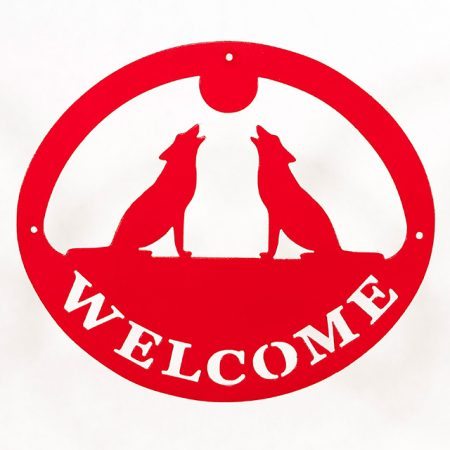 Welcome Signs Wolf - Red