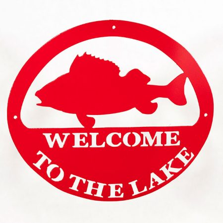 Welcome to Lake Sign - Red Fish