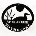 Welcome to Lake Sign - Black Loon