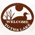 Welcome to Lake Sign - Brown Loon