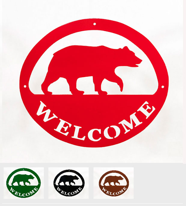 Welcome Signs - Bear - Tri-Color