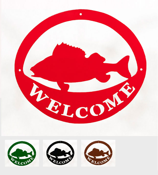 Welcome Signs - Fish - Tri-Color