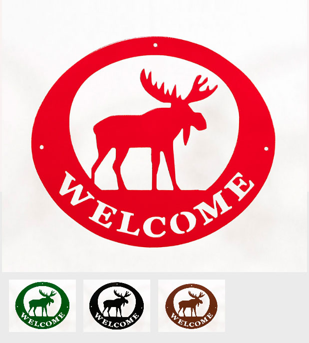 Welcome Signs - Moose - Tri-Color
