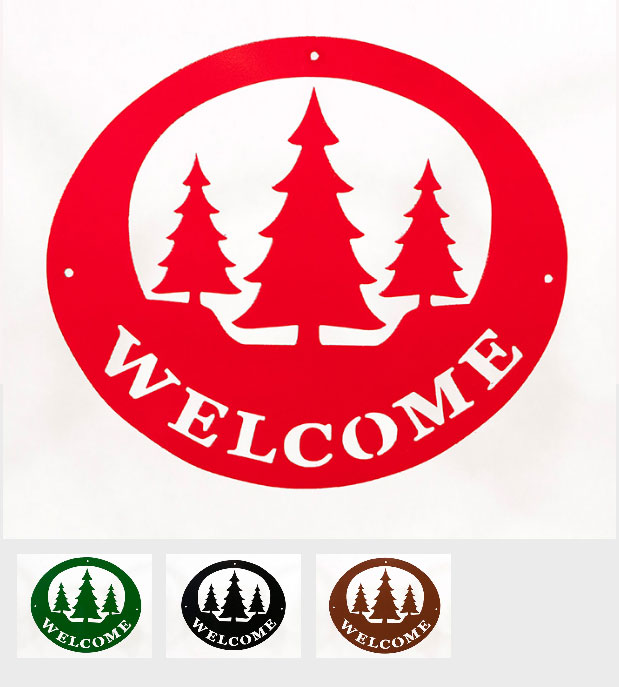 Welcome Signs - Pine Trees - Tri-Color